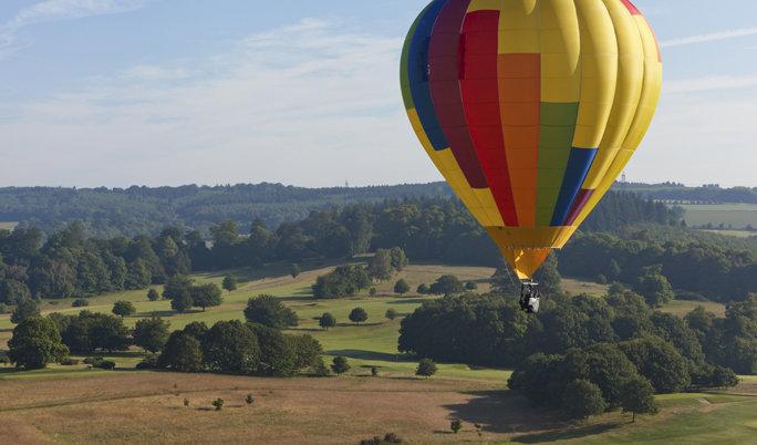 Romantische Ballonfahrt für Zwei über den Greifswald
