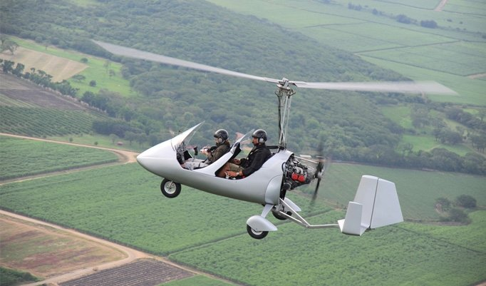 Gyrocopter Flug in Bad Dürkheim